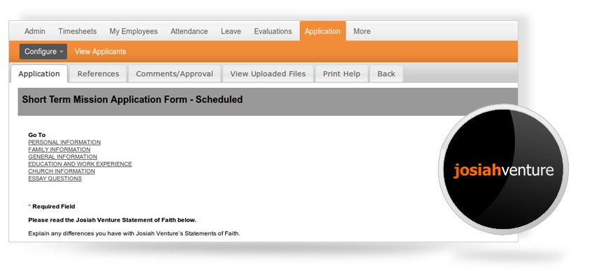 OrangeHRM Custom built performance evaluation forms -Josiah Venture